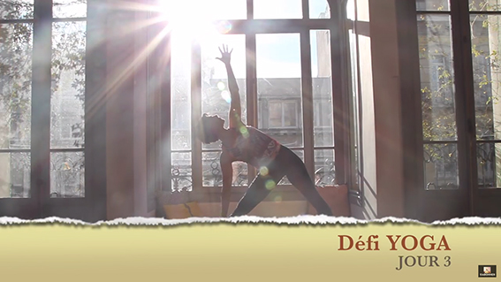 Defi yoga jour3 video